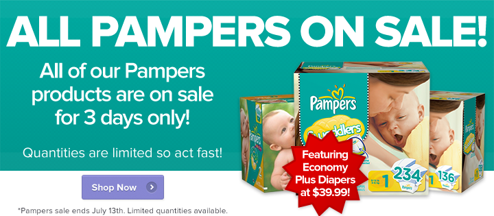 Well All Pampers on Sale (Until July 13)