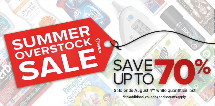 Well Summer Overstock Sale - Save up to 70 Off (Until Aug 4)
