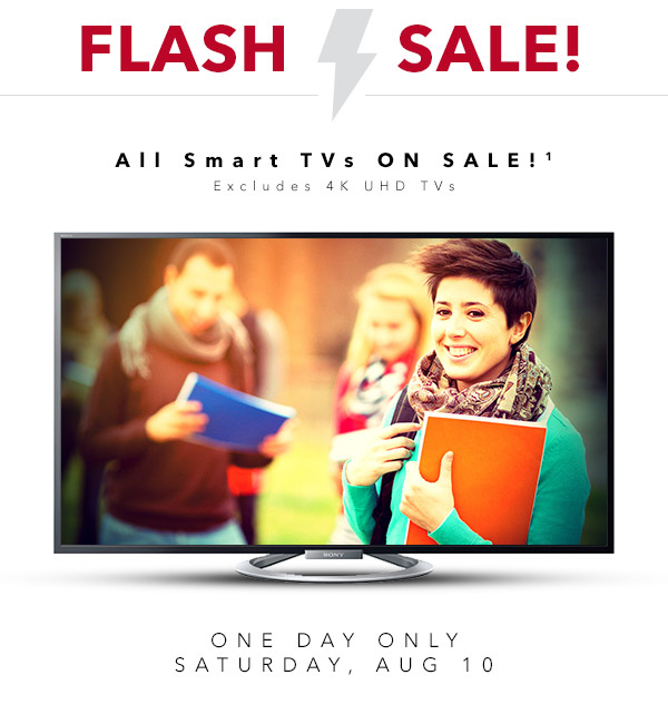Best Buy Flash Sale - All Smart TVs on Sale (Aug 10)