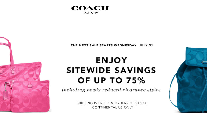 Coach Factory Save up to 75 Off Sitewide (Until Aug 2)