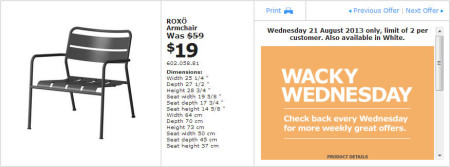 IKEA - Calgary Wacky Wednesday Deal of the Day (Aug 21) A