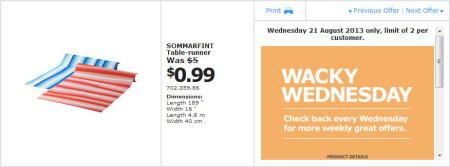 IKEA - Calgary Wacky Wednesday Deal of the Day (Aug 21) B