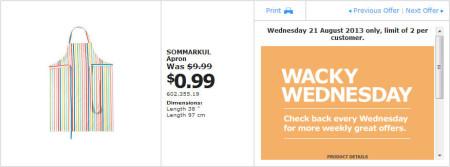 IKEA - Calgary Wacky Wednesday Deal of the Day (Aug 21) C