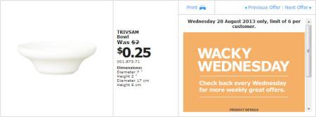 IKEA - Calgary Wacky Wednesday Deal of the Day (Aug 28) B