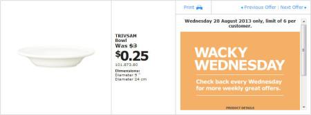 IKEA - Calgary Wacky Wednesday Deal of the Day (Aug 28) C
