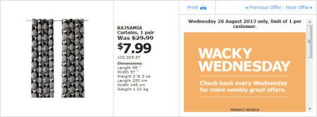 IKEA - Calgary Wacky Wednesday Deal of the Day (Aug 28) D