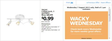 IKEA - Calgary Wacky Wednesday Deal of the Day (Aug 7) A
