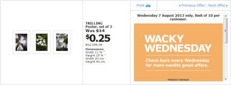 IKEA - Calgary Wacky Wednesday Deal of the Day (Aug 7) B