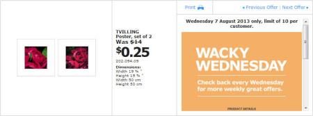 IKEA - Calgary Wacky Wednesday Deal of the Day (Aug 7) C
