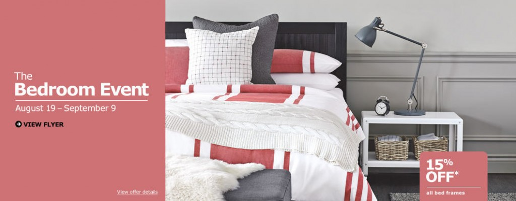 IKEA The Bedroom Event - 15 Off All Bed Frames (Aug 19 - Sept 9)