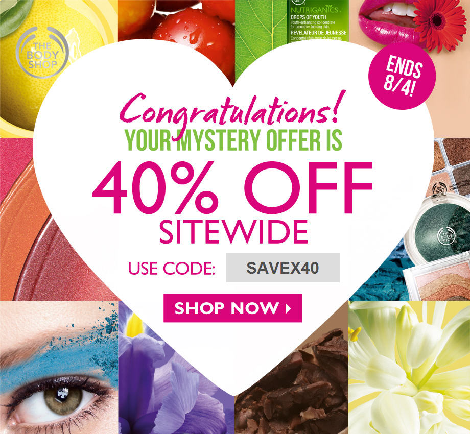 The Body Shop 40 Off Sitewide + 6 Cash Back on Ebates.ca (Until Aug 4)