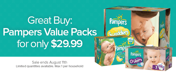 Well Pamper Value Packs for only $29.99 (Until Aug 11)