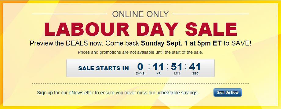 Best Buy Labour Day Online Sale (Sept 1, 5pm - Sept 3, 10am ET)