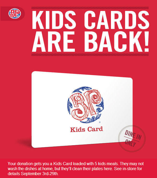 Boston Pizza 5 FREE Kids Meals with Minimum $5 Donation (Until Sept 29)