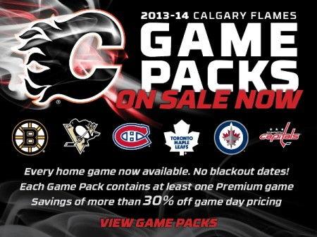 Calgary Flames Game Packs - Save more than 30 Off Game Day Pricing