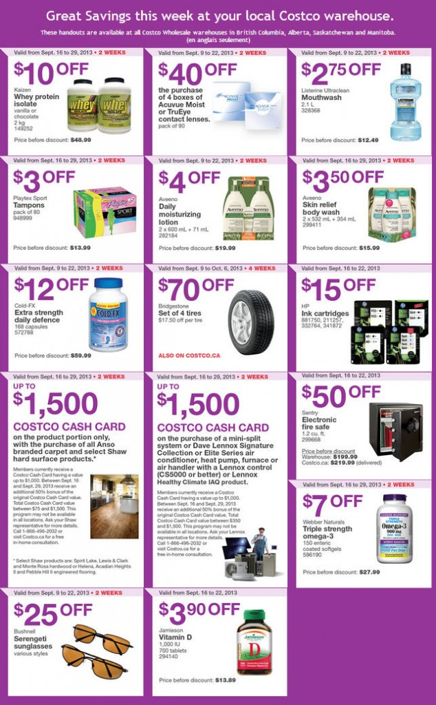 Costco Weekly Handout Instant Savings Coupons WEST (Sept 16-22)
