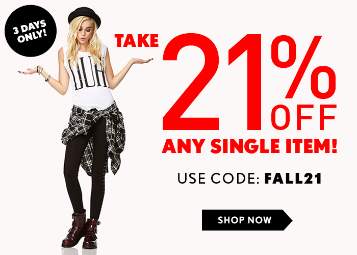 Forever 21 21 Off Any Item