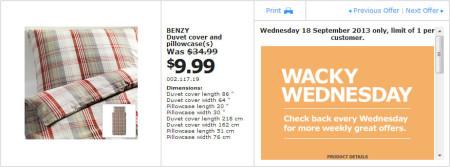 IKEA - Calgary Wacky Wednesday Deal of the Day (Sept 18) A