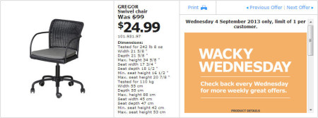 IKEA - Calgary Wacky Wednesday Deal of the Day (Sept 4) A