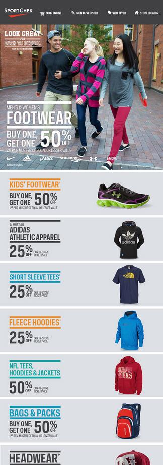 Sportchek Back to School Sale (Until Sept 9)