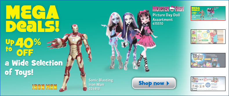 Toys R Us Mega Deals - Save up to 40 Off a Wide Selection of Toy