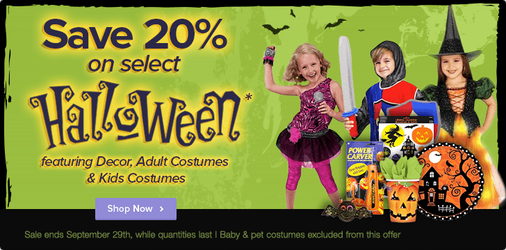 Well 20 Off Select Halloween Products (Until Sept 29)