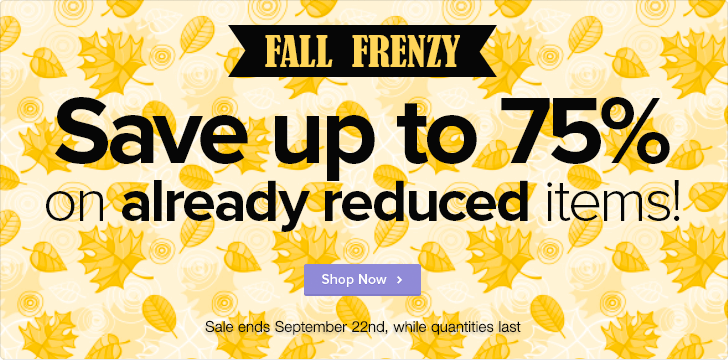 Well Fall Frenzy - Save up to 75 on Sale Items (Until Sept 22)