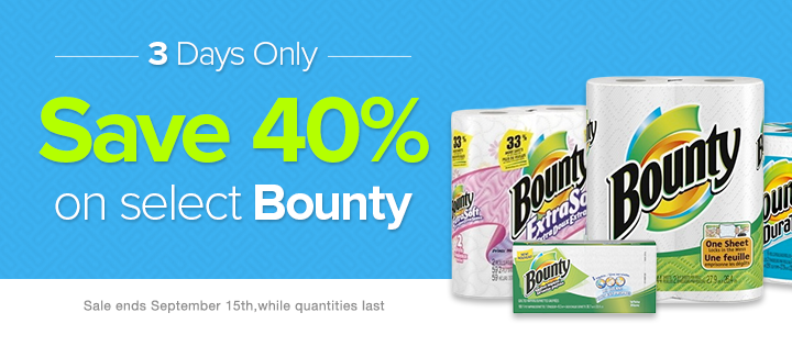 Well Save 40 Off on select Bounty (Until Sept 15)