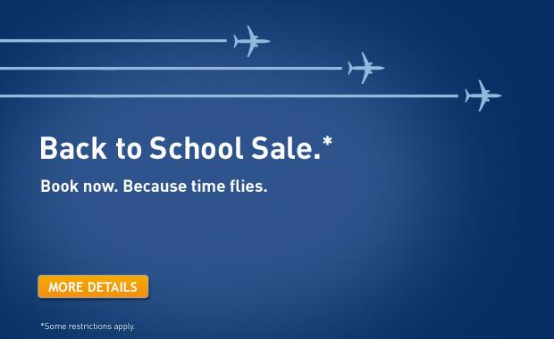 WestJet Back to School Seat Sale (Book by Sept 9)