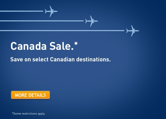 WestJet Canada Sale - Save on select Canadian destinations (Book by Sept 26)