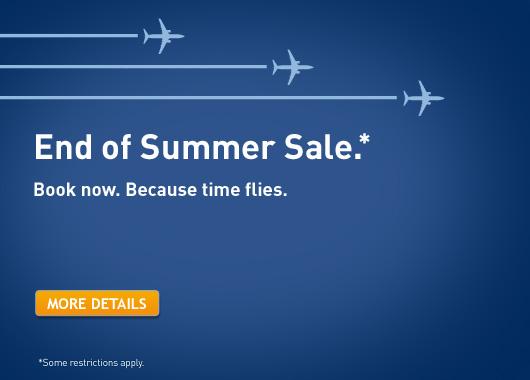 WestJet End of Summer Sale (Book by Sept 19)
