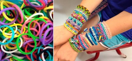 1200-Piece Set of Colorful Loom Bands and Tools