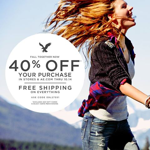 American Eagle Outfitters Thanksgiving Sale - 40 Off Everything Free Shipping (Oct 10-14)