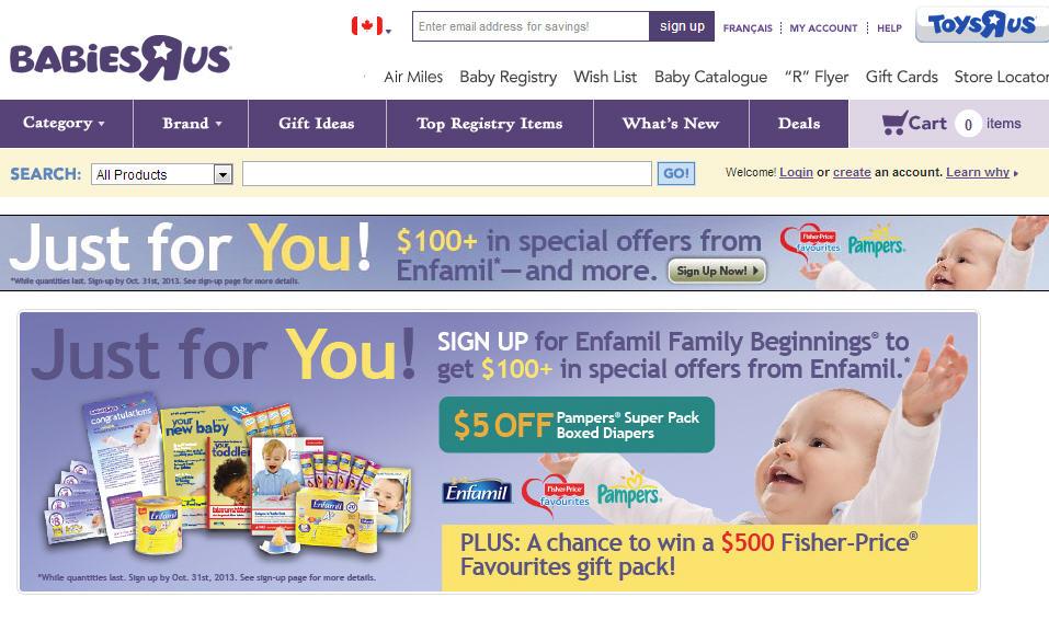 Babies R Us FREE Enfamil Baby Beginnings Kit (Until Oct 31)