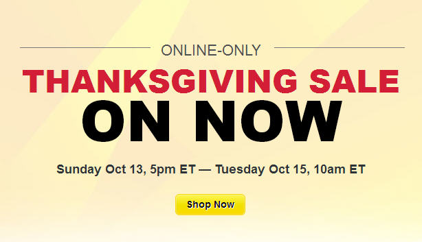 Best Buy Thanksgiving Sale - Online Only (Oct 13-14)