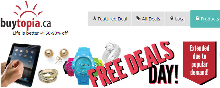 Buytopia FREE Deals Day Get 20 Deals for Free