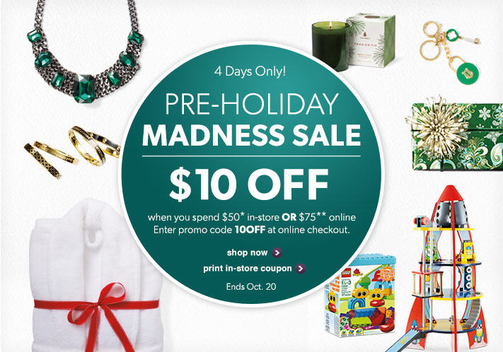 Chapters Indigo Pre-Holiday Madness Sale - $10 Off Coupon or Promo Code (Until Oct 20)