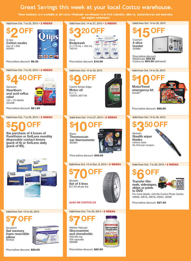Costco Weekly Handout Instant Savings Coupons (Oct 14-20)