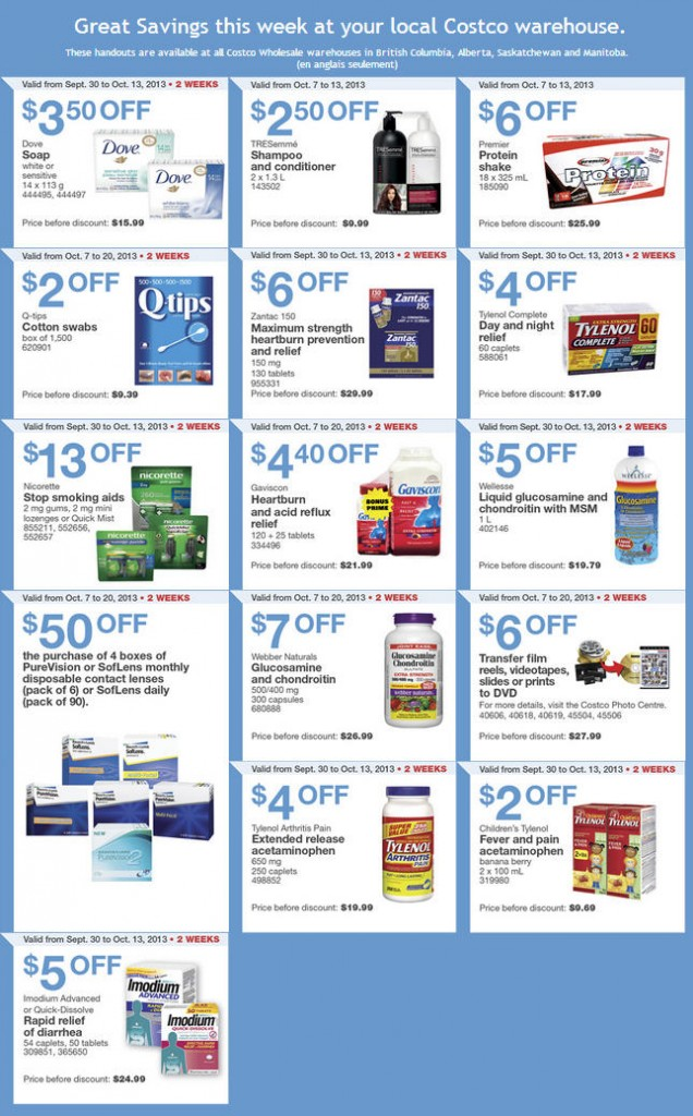 Costco Weekly Handout Instant Savings Coupons (Oct 7-13)