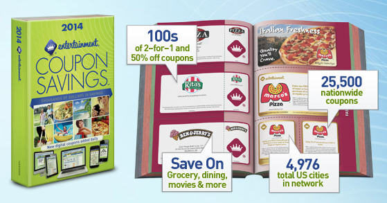 Entertainment Books All 2014 Coupon Books 15 Off + Free Shipping