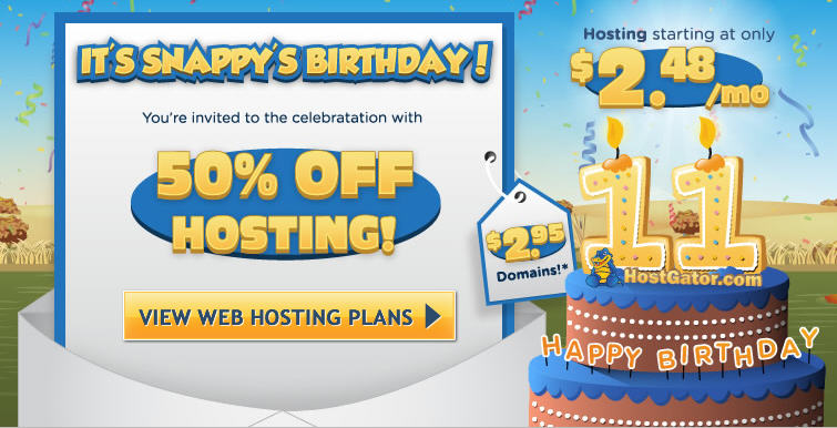 HostGator Anniversary Sale - 50 Off All Web Hosting Packages