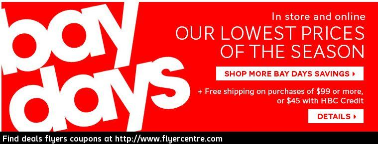 Hudson's Bay Bay Days - Lowest Prices of the Season (Starting Oct 18)