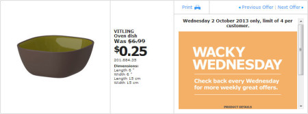 IKEA - Calgary Wacky Wednesday Deal of the Day (Oct 2) B