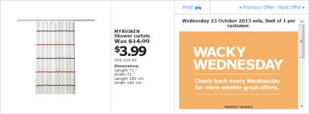 IKEA - Calgary Wacky Wednesday Deal of the Day (Oct 23) A