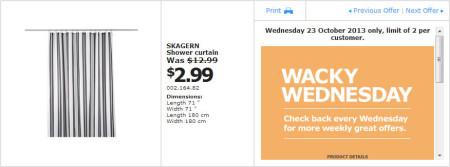 IKEA - Calgary Wacky Wednesday Deal of the Day (Oct 23) B