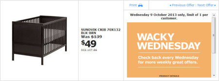 IKEA - Calgary Wacky Wednesday Deal of the Day (Oct 9) A