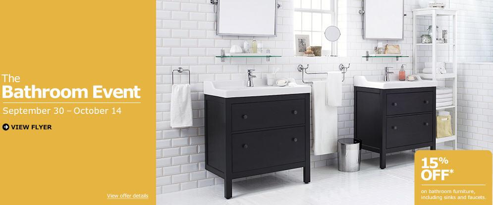 IKEA The Bathroom Event - 15 Off All Bathroom Furniture (Sept 30 - Oct 14)