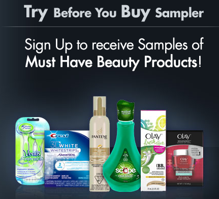 P&G FREE Samples - Try Before You Buy Sampler