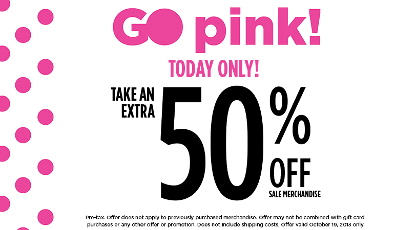 Penningtons Extra 50 Off Sale Merchandise (Oct 19 Only)