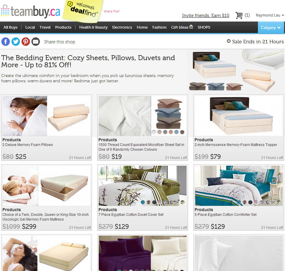 TeamBuy The Bedding Event - Cozy Sheets, Pillows, Duvets and More - Up to 81 Off